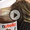 Ce coiffeur colore les cheveux de sa cliente avec du... Nutella !