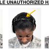 Coupe de cheveux afro arm