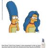 Marge Simpson avec les cheveux lissés