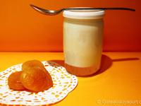 Yaourt à la confiture d'abricots