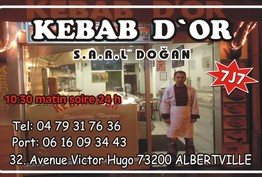 Le kébab d'or Albertville