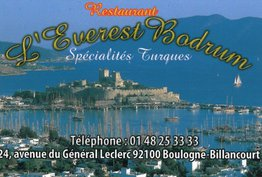 L'Everest Bodrum Boulogne-Billancourt