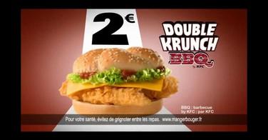 Le double krunch BBQ de chez KFC