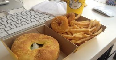 Menu Homer et son donut burger de chez Quick