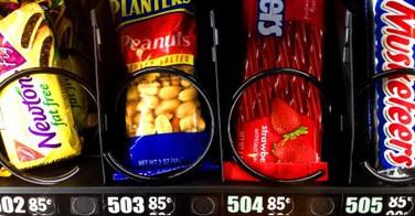 Les calories indiques sur les distributeurs de friandises