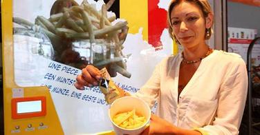 Des frites en distributeur automatique
