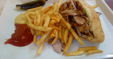 Kebab - La porte St Denis à Paris