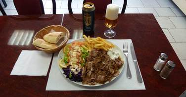 Assiette kebab - Istanbul Kebab à Rouen