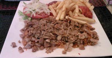Assiette kebab - Restaurant Sibel à Paris