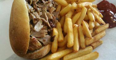 Sandwich kebab - Restaurant Galatasaray à Malakoff