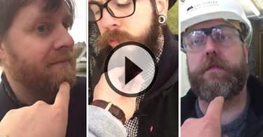 Il touche la barbe d'inconnus dans la rue, leurs réaction sont justes géniales (et parfois violentes...) !