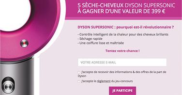 Gagnez 5 sèches cheveux Dyson Supersonic (valeur : 399 euros) !