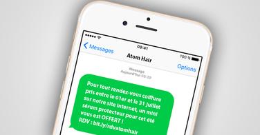 Ce coiffeur envoi ce sms et double son chiffre au mois de juillet