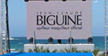 Jean Claude Biguine coiffeur maquilleur officiel du Festival International des jeunes créateurs de mode de Dinard