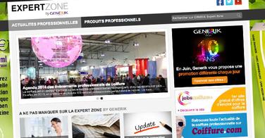 Lancement de l'Expert Zone by Generik, site réservé aux coiffeurs