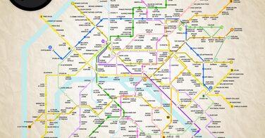 Carte de métro des meilleurs coiffeurs de Paris