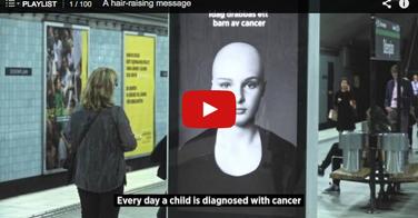 Superbe campagne de sensibilisation au cancer des enfants
