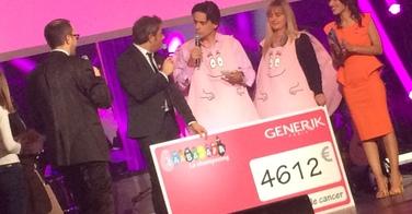 GENERIK verse 4612 euros à Tout le monde chante contre le cancer suite à l'opération #BarbapapaSelfie