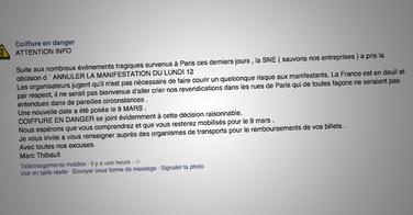 La manifestation anti RSI du 12 Janvier annulée à cause de l'attentat Charlie Hebdo