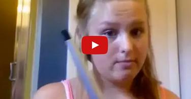 Cette fille voulait se boucler les cheveux... La suite est affreuse !