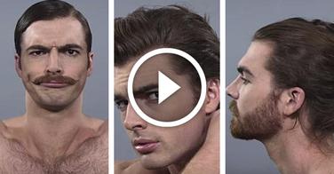 1 siècle de coiffure masculine résumé en 1 minute !
