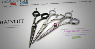 Lancement du plus grand site de vente en ligne de ciseaux professionnels de coiffure