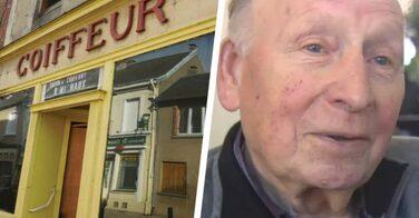 Le plus vieux coiffeur de France (90 ans) voit son salon réduit en cendres...