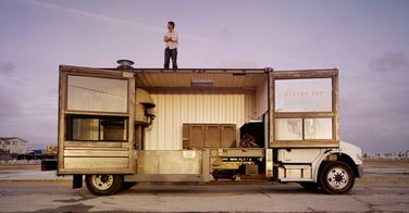 Un camion pizza de compétition