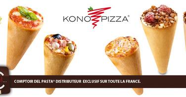 Konopizza, la pizza dans un cornet