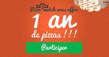 PizzaMatch vous offre 1 an de pizzas