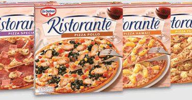 Les pizzas surgelées Dr. Oetker