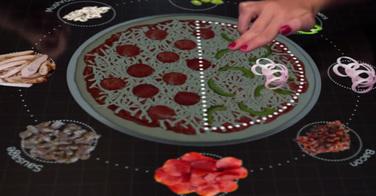 Commande de pizzas tactiles chez Pizza Hut