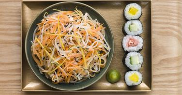 Les salades arrivent chez O'Sushi