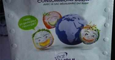 Eat Sushi lance son sac réutilisable
